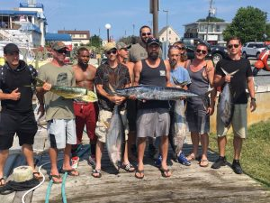 Live offshore report, tuna, dolphin and a wahoo